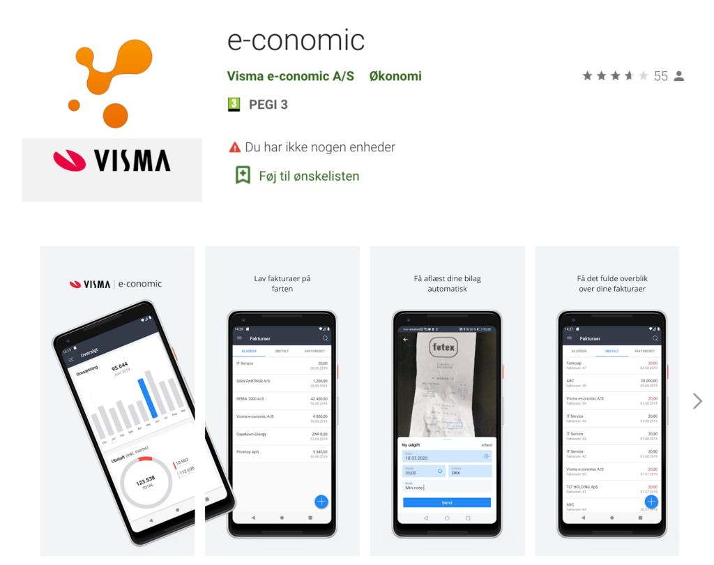 Download e-conomic app