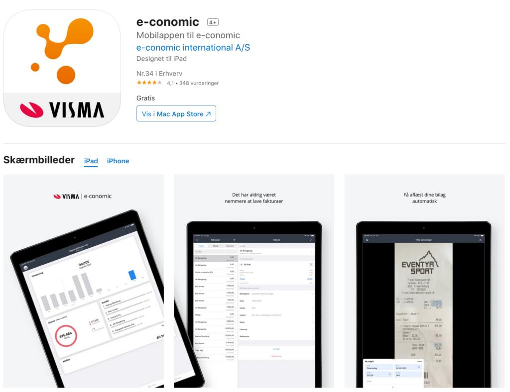 Download e-conomic app appstore